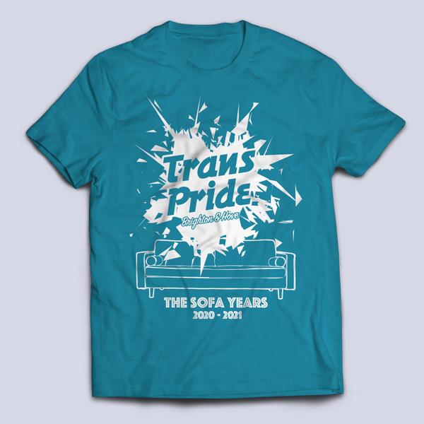 T-shirt unisex - Azure blue, front