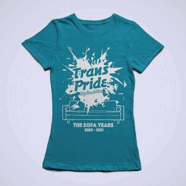 T-shirt slim fit - Azure blue, front