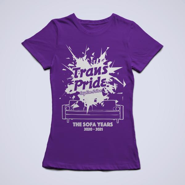 T-shirt slim fit - Purple, front