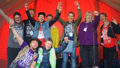 Group photo of Trans Pride Brighton organisers